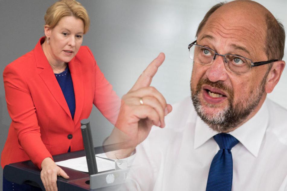 Franziska Giffey hat unter anderem Parteikollege Schulz für seine Misthaufen-Aussage kritisiert.