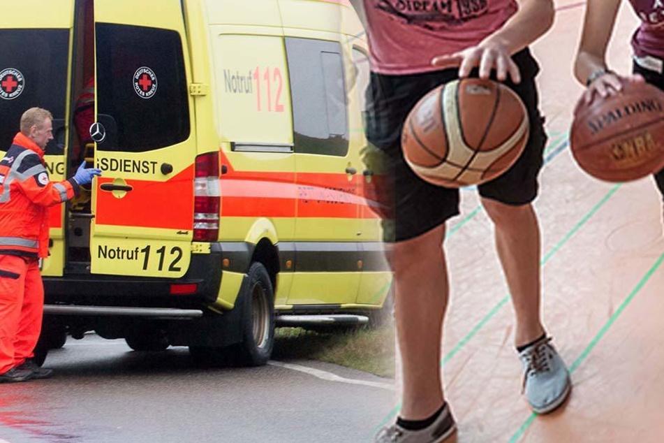 Beim Schulsport sprang der 20-Jährige durch eine Glastür und wurde schwer verletzt.