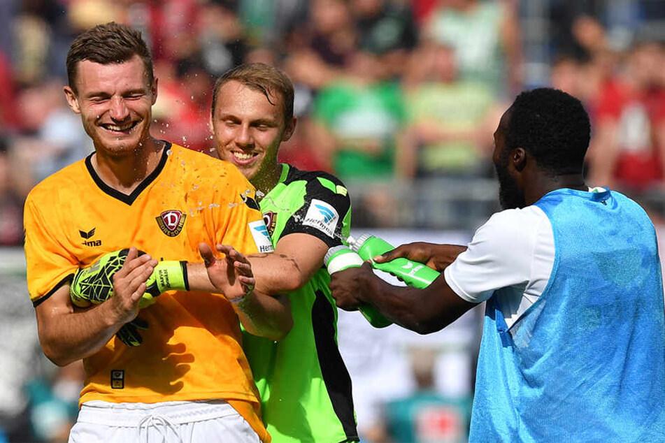 Marvin Schwäbe (M.) und Florian Ballas (l.) gehören zu den Tops unter den  Neuzugängen. Erich Berko (r.) noch nicht.