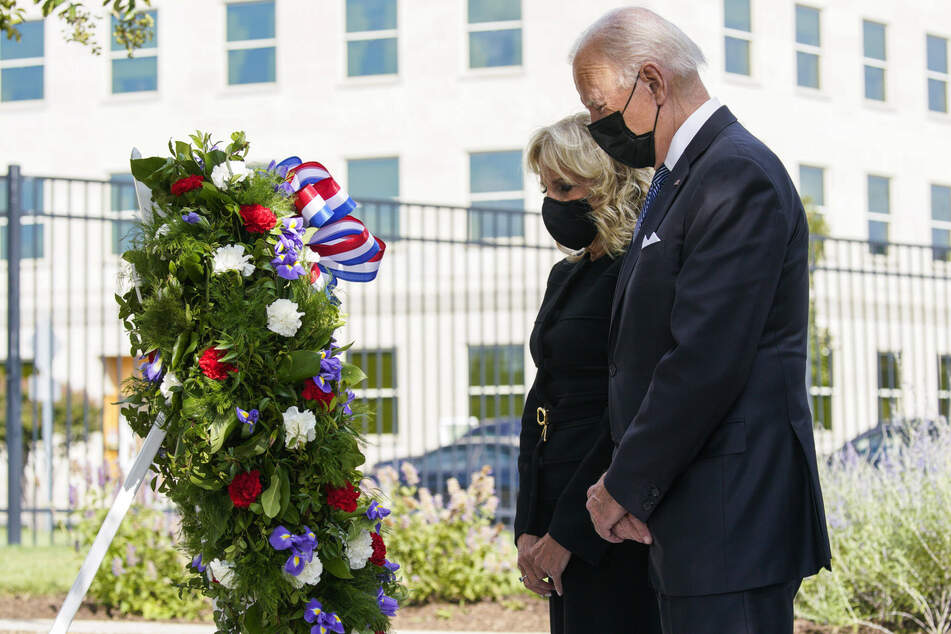 President Joe Biden and first lady Dr. Jill Biden also attended a wreath laying ceremony at National 9/11 Memorial at the Pentagon.