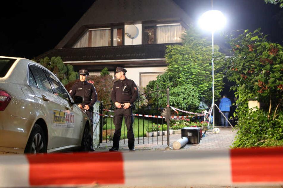 Im Juni 2016 wurde die Angeklagten selber in diesem Haus in Hamburg-Schnelsen von einem Unbekannten beschossen.