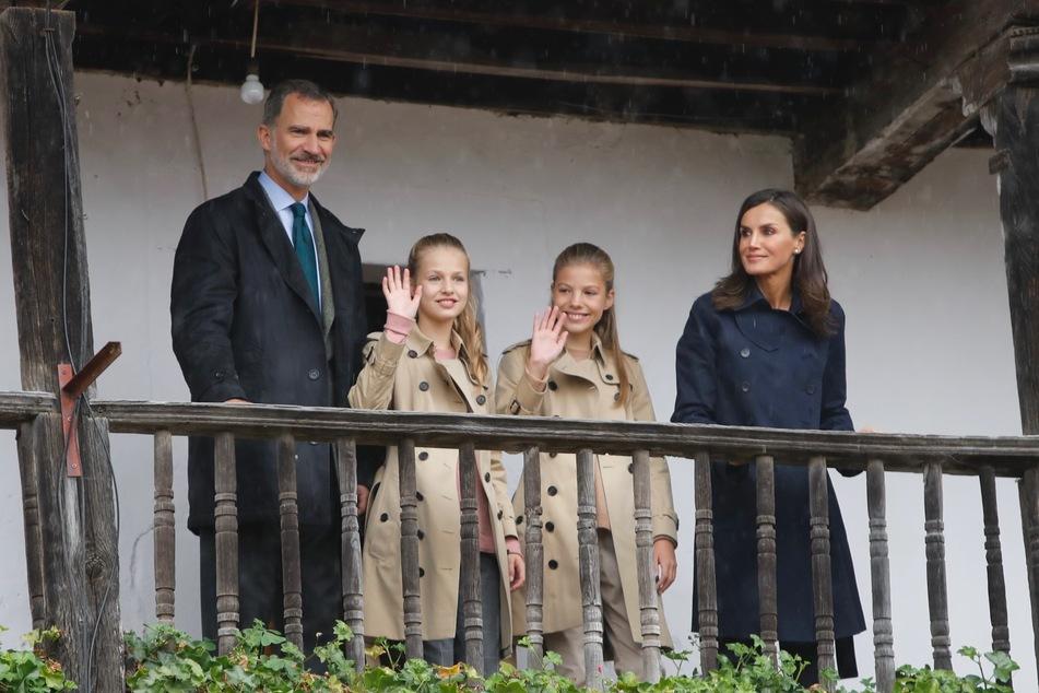 Felipe VI., König von Spanien, Kronprinzessin Leonor, Infantin Sofia und Königin Letizia.
