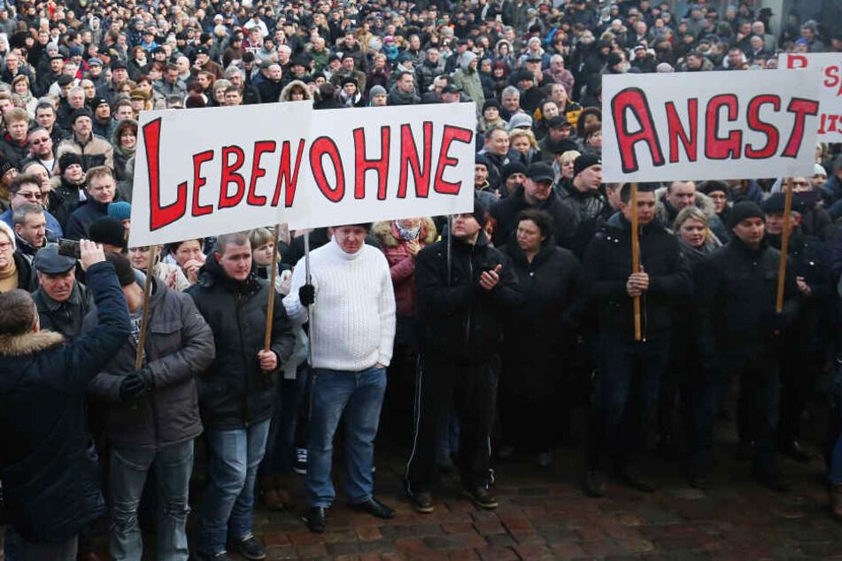 Hunderte Russen demonstrierten wegen einer Vergewaltigung, die es nicht gab.
