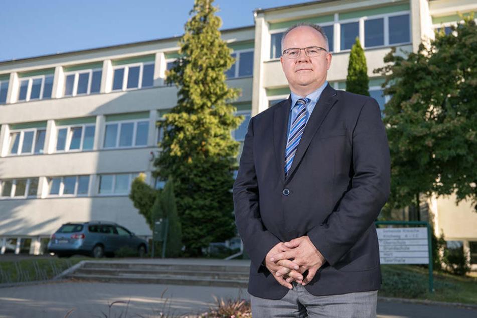 Er verteidigt sich: Frank Schöning (FBK), Bürgermeister von Kreischa.