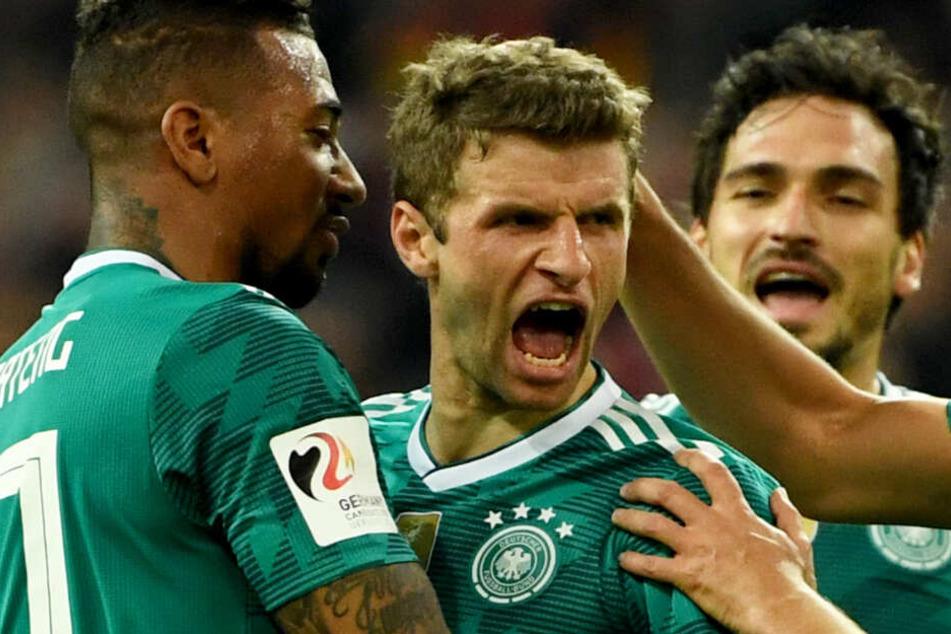 Jérôme Boateng, Thomas Müller und Mats Hummels (v.l.n.r.) wurden aussortiert.
