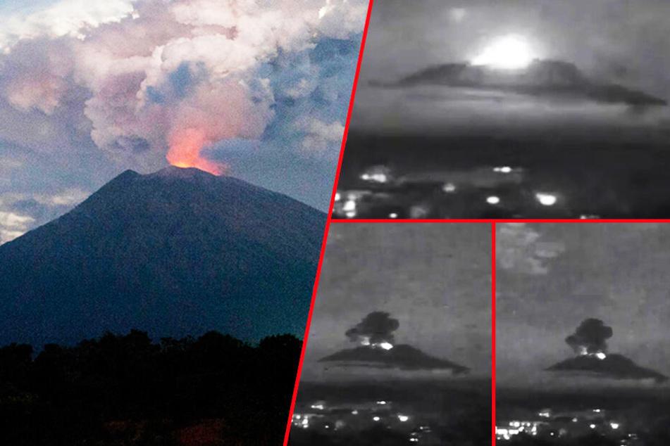 Vulkanausbruch auf Urlaubsinsel! Agung spuckt Aschewolken: Droht eine Katastrophe?