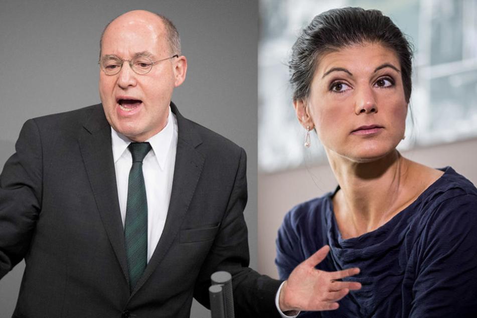 """Ob sich Gysi und Wagenknecht beim Thema """"Kompromisse"""" einig werden?"""