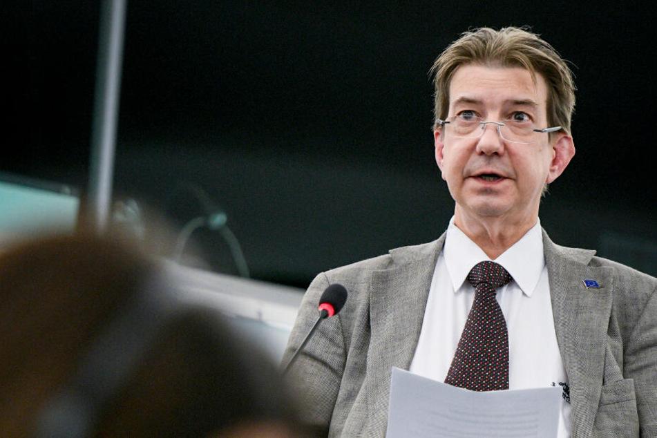 Martin Buschmann (49) sitzt für die Tierschutzpartei im Europäischen Parlament. (Archivbild)