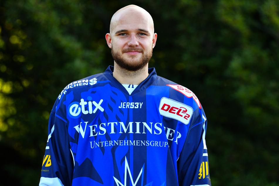 Die Leistenverletzung von Elvijs Biezais brach in Landshut wieder auf.