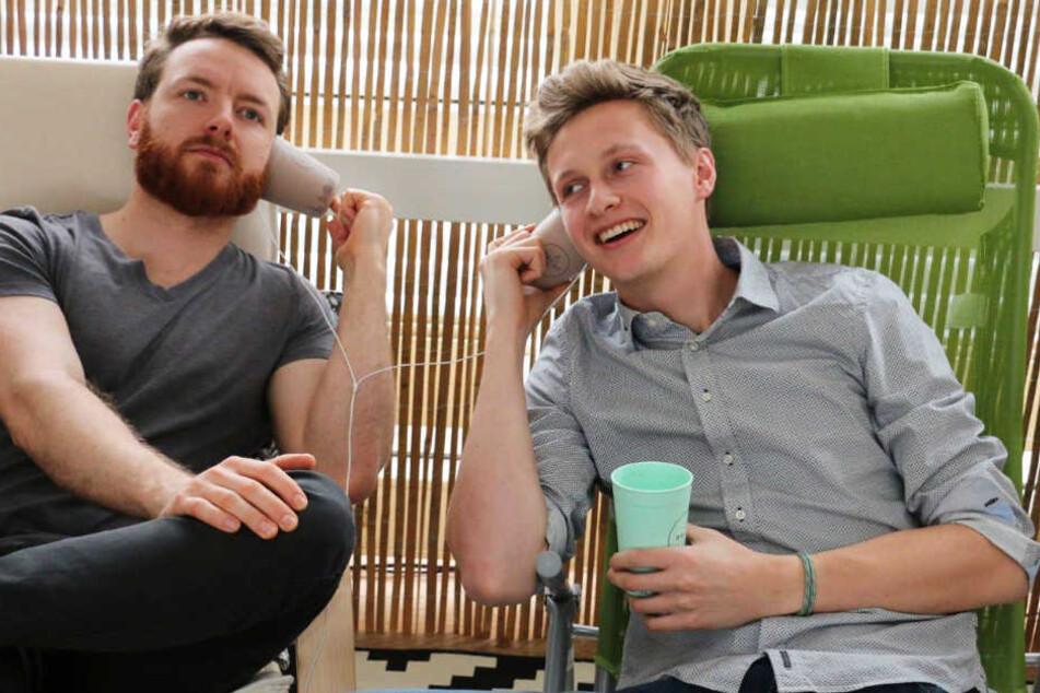Fabian und Florian aus München entwickelten die stylishen Kaffeebecher für unterwegs.