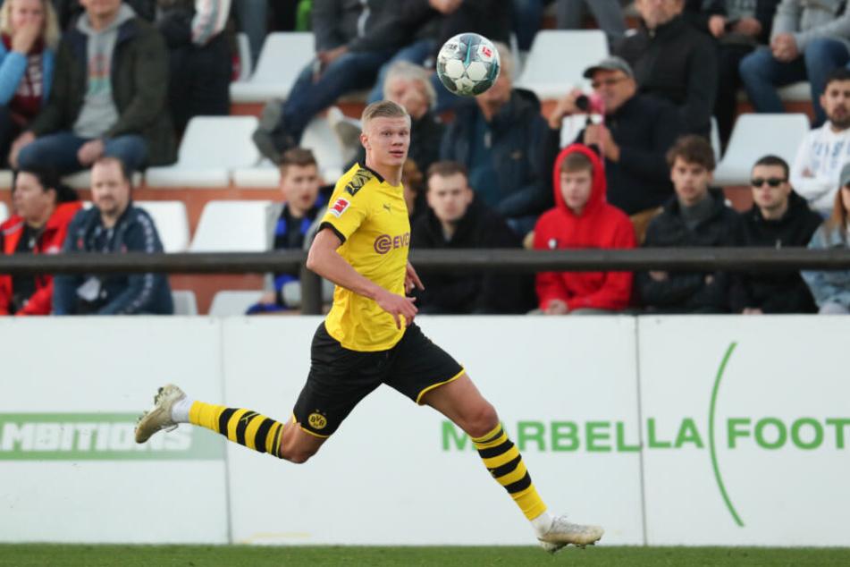 Erling Braut Haaland (19) bei seinem Testspiel-Einsatz gegen Bundesligist FSV Mainz 05.