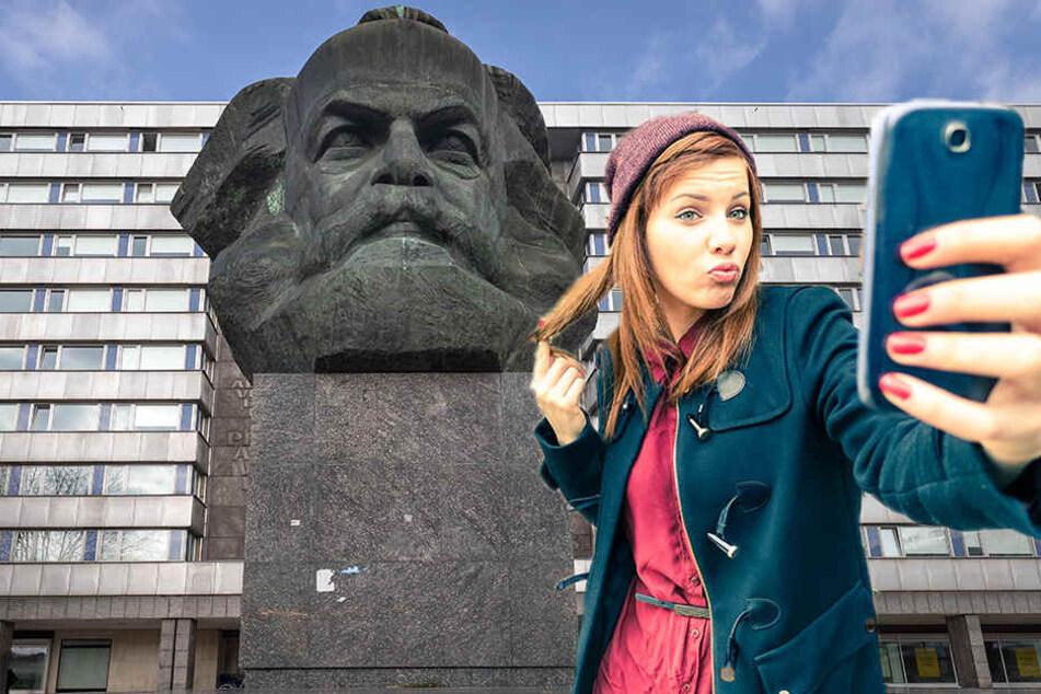 Seflies von Influencern vorm Marx-Monument sind bisher noch Mangelware. (Bildmontage)