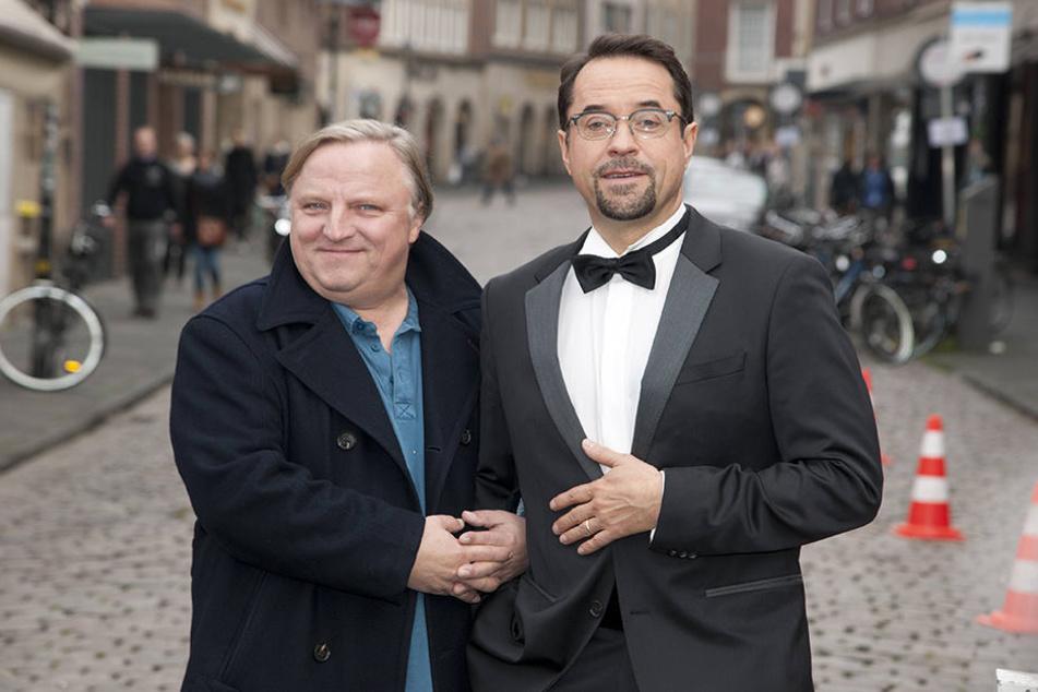 Mit 30 Fällen feierten Jan Josef Liefers (52) und Axel Prahl (56) am Sonntag rundes Jubiläum.