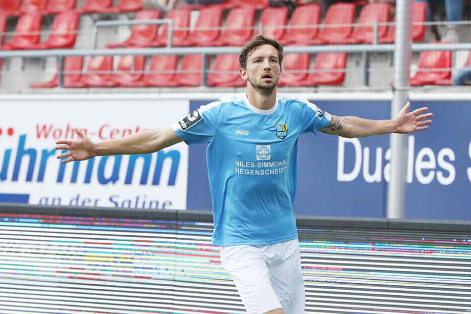 Persönlich läuft es für Matti Langer richtig gut. Zwei Tore in der Liga, eins im DFB-Pokal - nur einen Sieg konnte er mit dem CFC noch nicht bejubeln. Klappt es gegen Magdeburg?