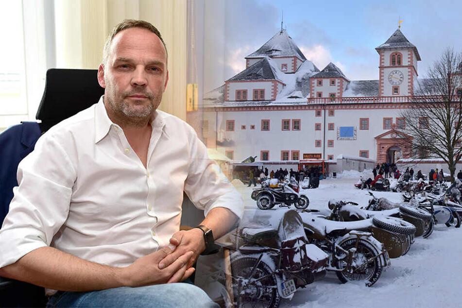 Bürgermeister Dirk Neubauer (47) wetterte auf Facebook, dass auf Schloss Augustusburg zu wenig los ist. Ein Thema war auch das abgesagte Wintertreffen der Biker.