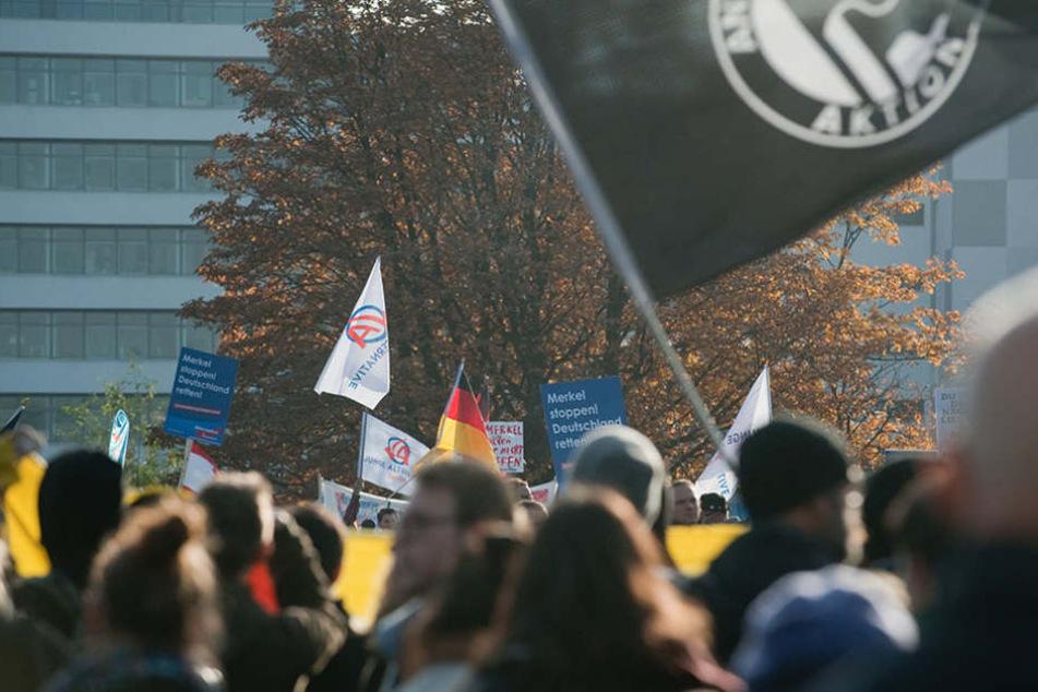 Am Samstag finden mehrere Gegenkundgebungen zu dem Dazu-Aufmarsch statt. (Symbolbild)