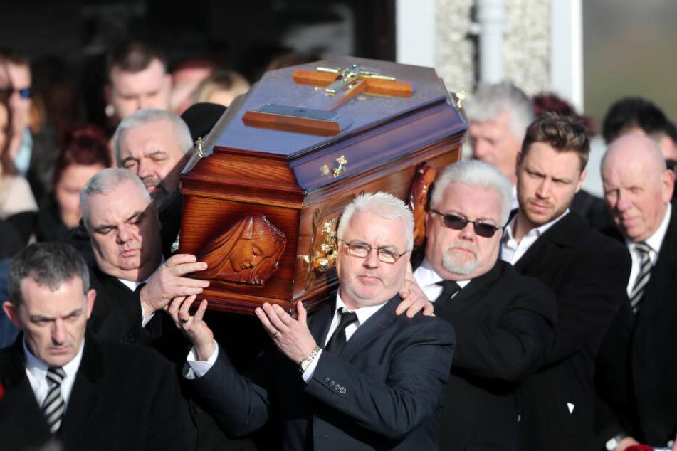 Die Beerdigung der Sängerin im Januar 2018.