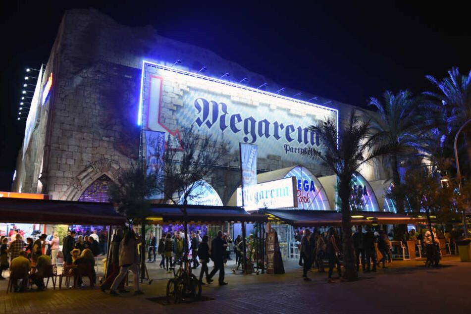 Der Megapark in S'Arenal auf Mallorca. Hier wurde der Türsteher Opfer einer offenbar rassistischen Attacke zweier Deutscher (beide 20).