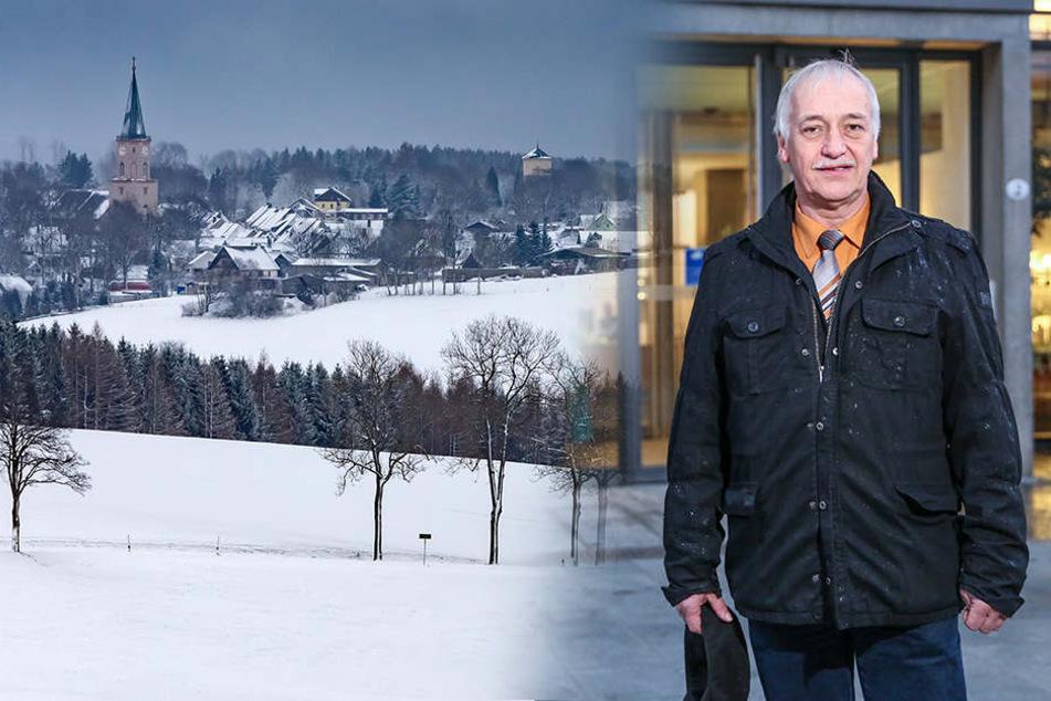Saydas Bürgermeister Volker Krönert ist guter Dinge, dass bei ihm im Erzgebirge endlich auch bald der Breitbandausbau beginnen kann