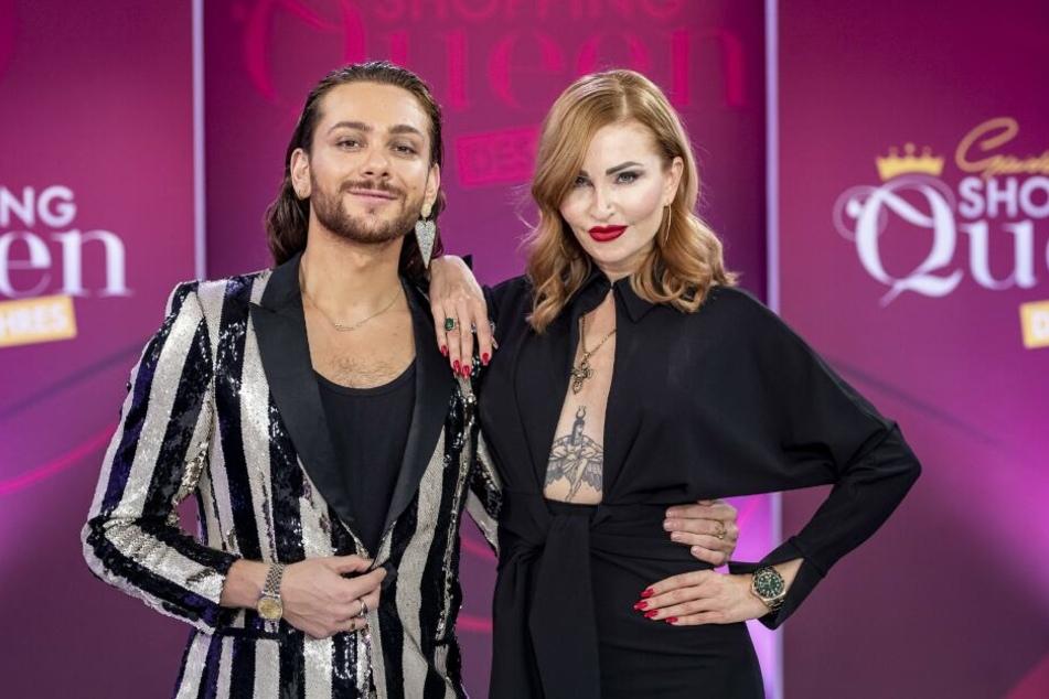 Sophie Gotzmann (37) mit ihrer Prominenten Shopping-Begleitung Riccardo Simonetti (26).