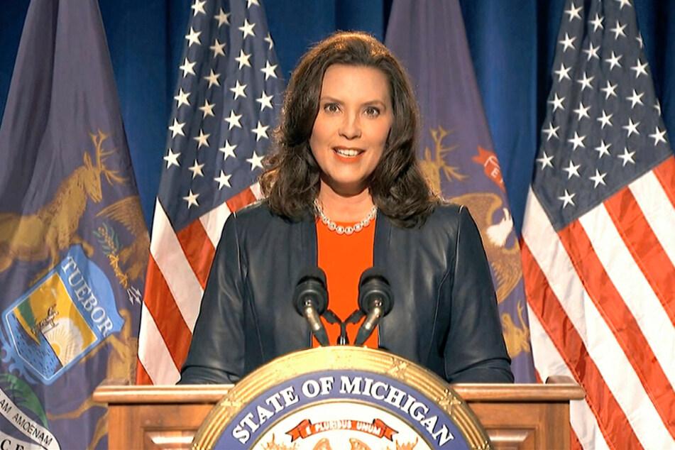 Gretchen Whitmer während des Parteitages der US-Demokraten im August 2020.