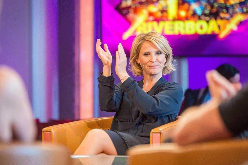 Applaus! Co-Moderatorin Susanne Link (41).