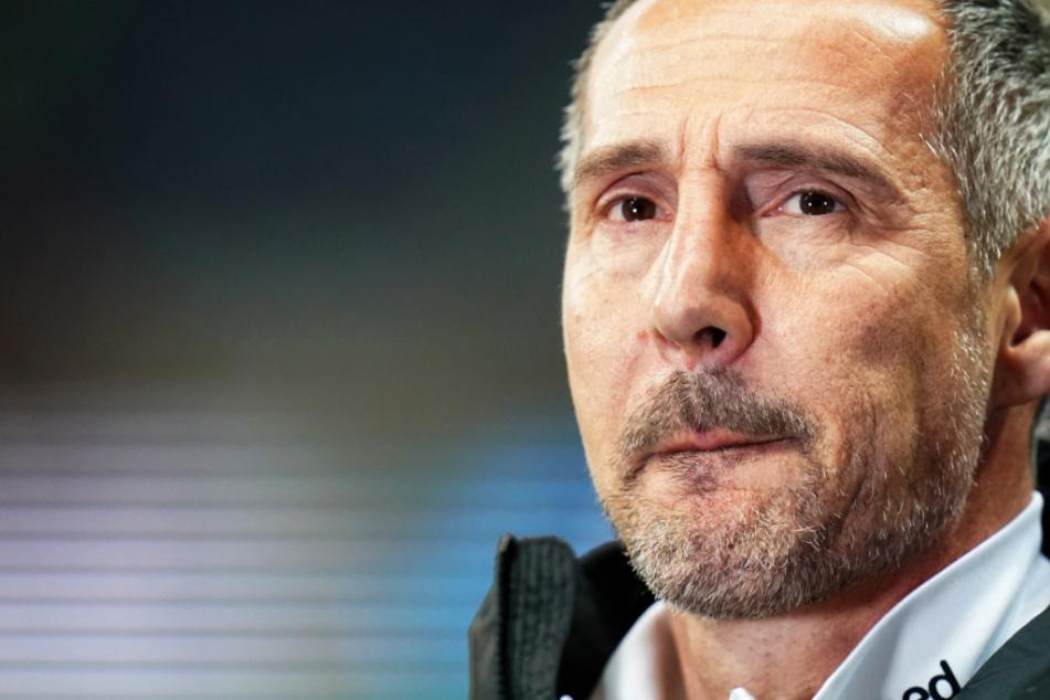 Das Foto aus dem Februar zeigt Frankfurts Cheftrainer Adi Hütter.