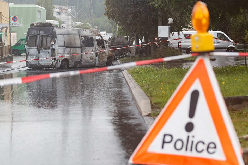 Die Polizei sperrte den Tatort weiträumig ab.