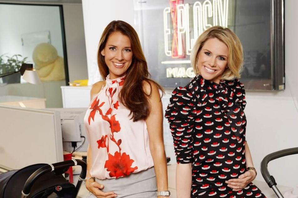 """Elena Bruhn (40) und Sandra Kuhn (37) gehören zum Moderatorenteam von """"RTL-Exklusiv""""."""