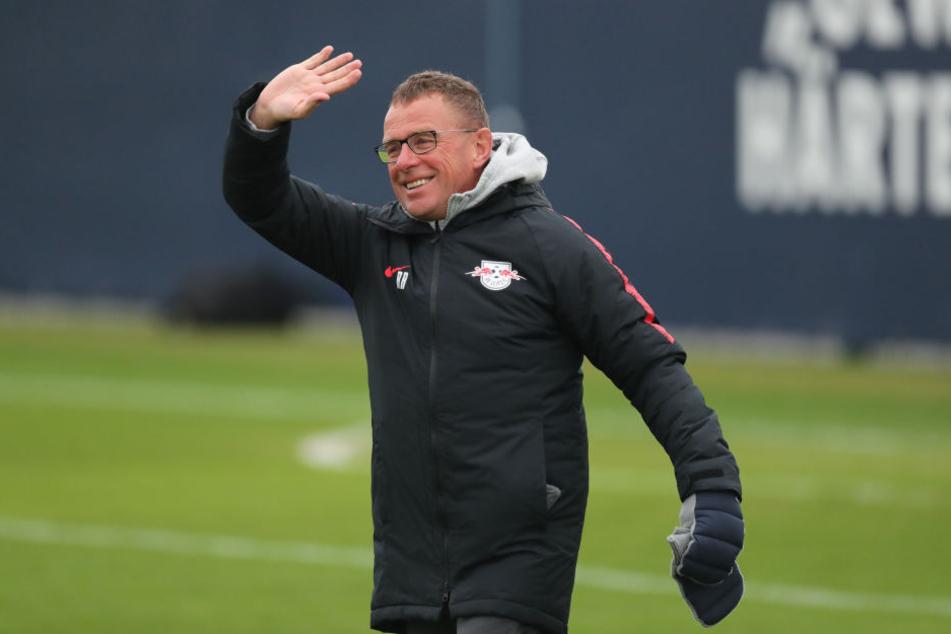 RB-Coach Ralf Rangnick beim Training.