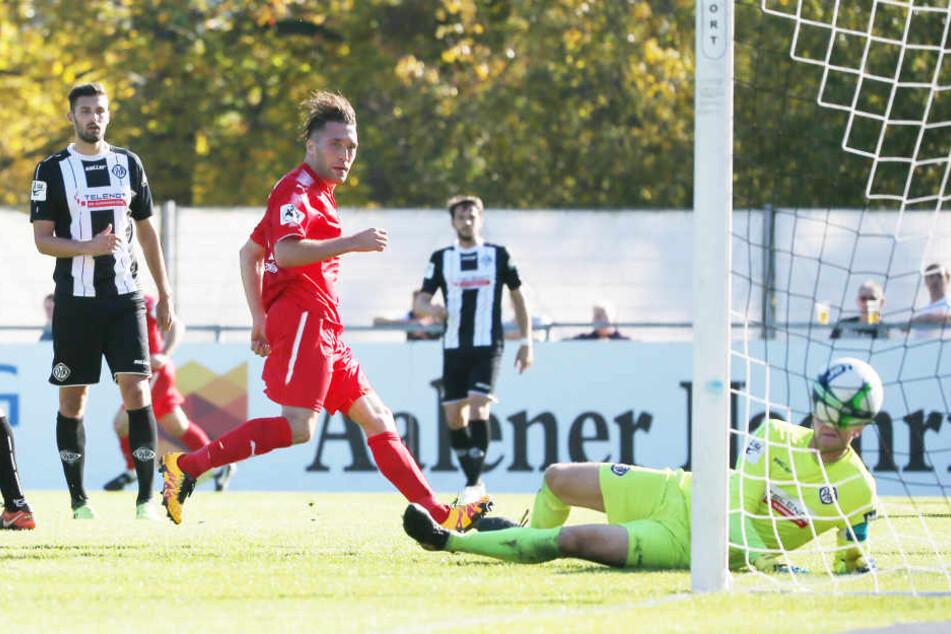 Tor für FSV Zwickau. Aykut Öztürk (Zwickau) erzielt den Treffer zum 0:2.