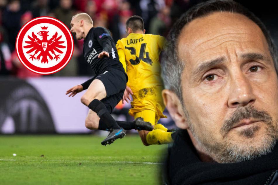 Eintracht fühlt sich in Lüttich klar benachteiligt: Hütter und Rode zählen Schiri an!