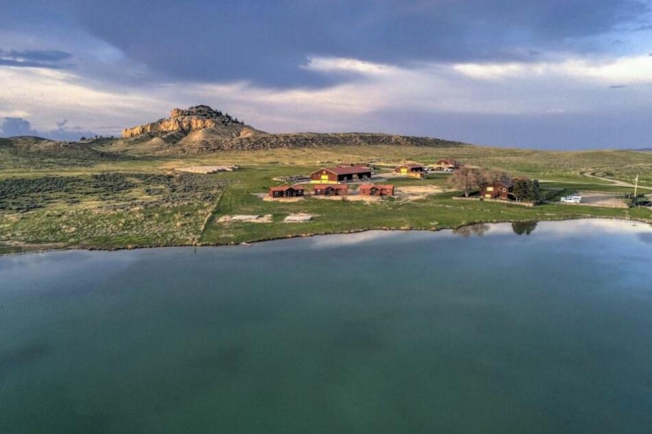 Die Monster Lake Ranch bei Cody in Wyoming.