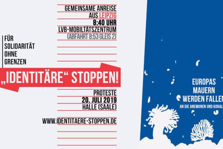 Am Samstag werden auch Aktivisten aus Leipzig zum Protest gegen den Aufmarsch der Identitären Bewegung nah Halle (Saale) fahren.