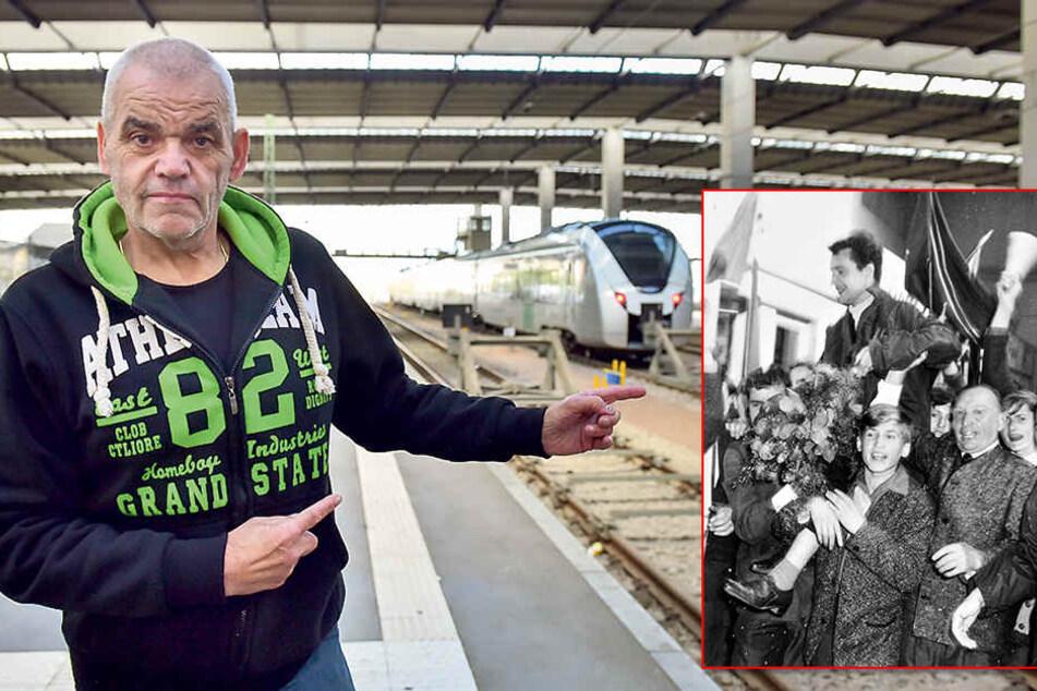 Am Bahnhof erinnerte sich der Chemnitzer fast 50 Jahre später noch einmal an die große Sause.