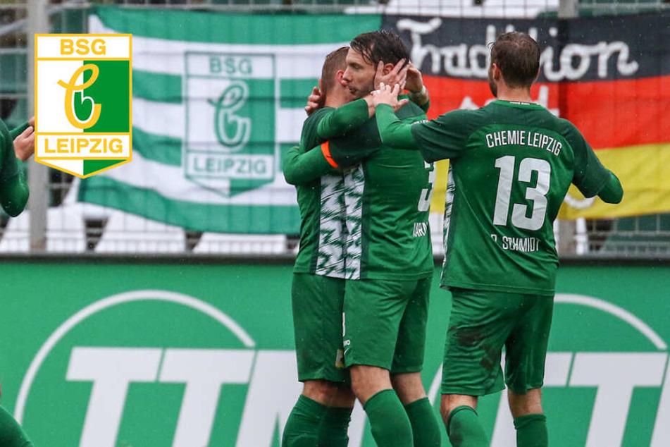 Wichtiger Sieg! Chemie Leipzig gewinnt Regenmatch gegen Auerbach