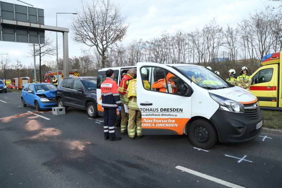 Ein hohes Aufgebot an Rettungskräften war nach dem Unfall im Einsatz.