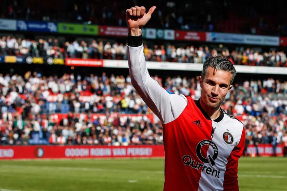 Robin van Persie (35) verabschiedet sich von der großen Fußball-Bühne.