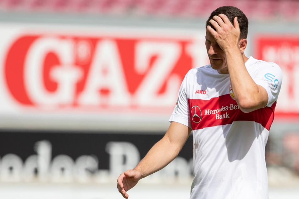 Mario Gomez traf in seinem letzten Spiel für den VfB Stuttgart zum zwischenzeitlichen 1:1-Ausgleich.