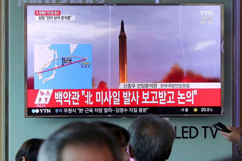 Eine Rakete wurde über den Pazifik gen Japan abgefeuert.