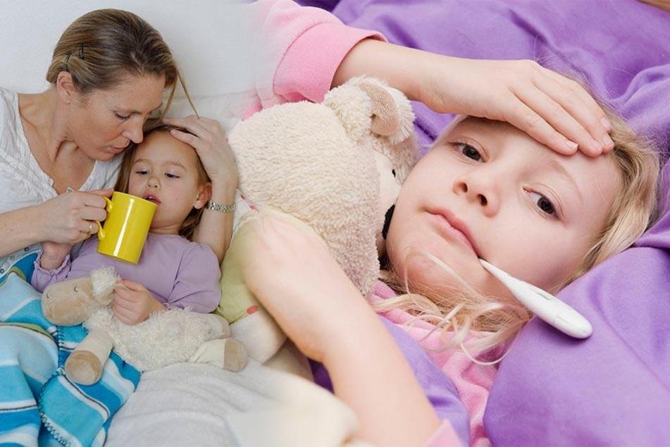 Fieber! Kinder, die darunter leiden, dürfen nicht in die Kita gebracht werden.