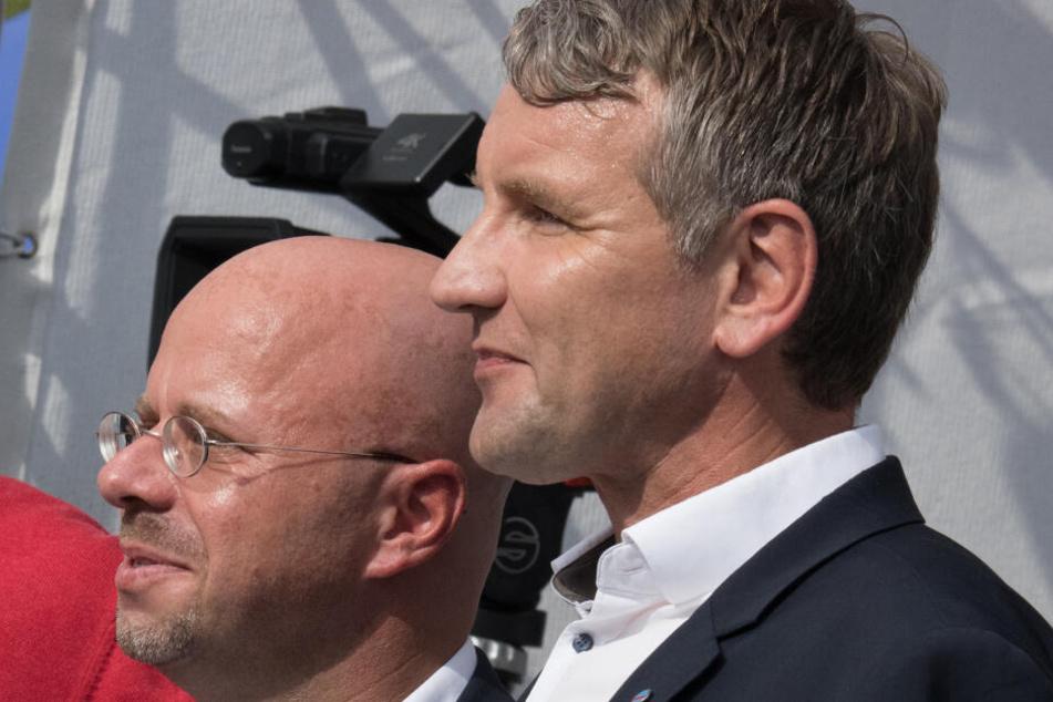 Björn Höcke mit Brandenburgs AfD-Chef Andreas Kalbitz.