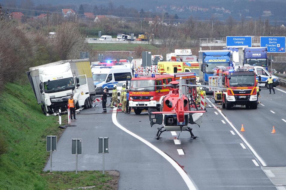 Unfall A17: Nach tödlicher Kollision mit Lkw auf A17: Identität des Opfers geklärt