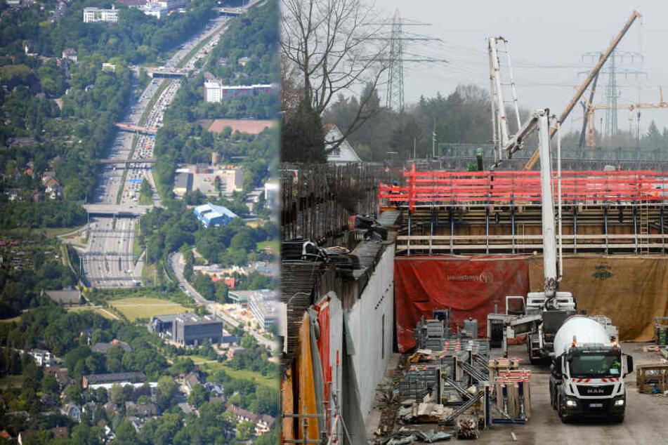Lärmschutz an der A7 in Hamburg: Jetzt kommt der zweite Deckel auf die Autobahn!