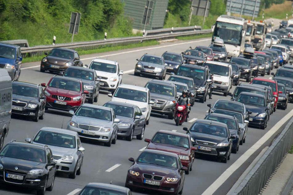 Das lange Osterwochenende sorgte für viel Verkehr auf der A9.