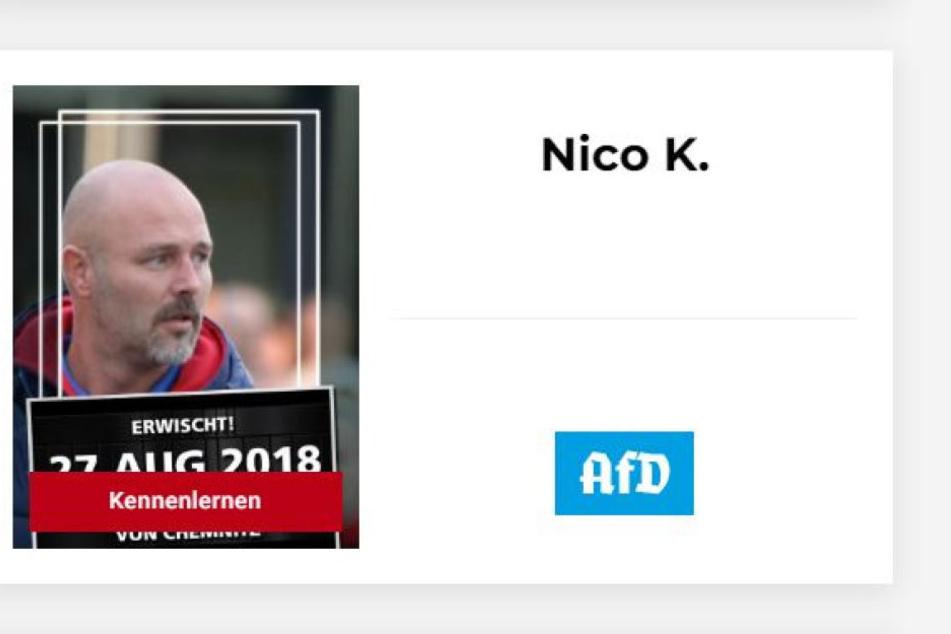 So fahndet das Künstlerkollektiv nach Nico Köhler (42). Der AfD-Politiker erstattete Anzeige.