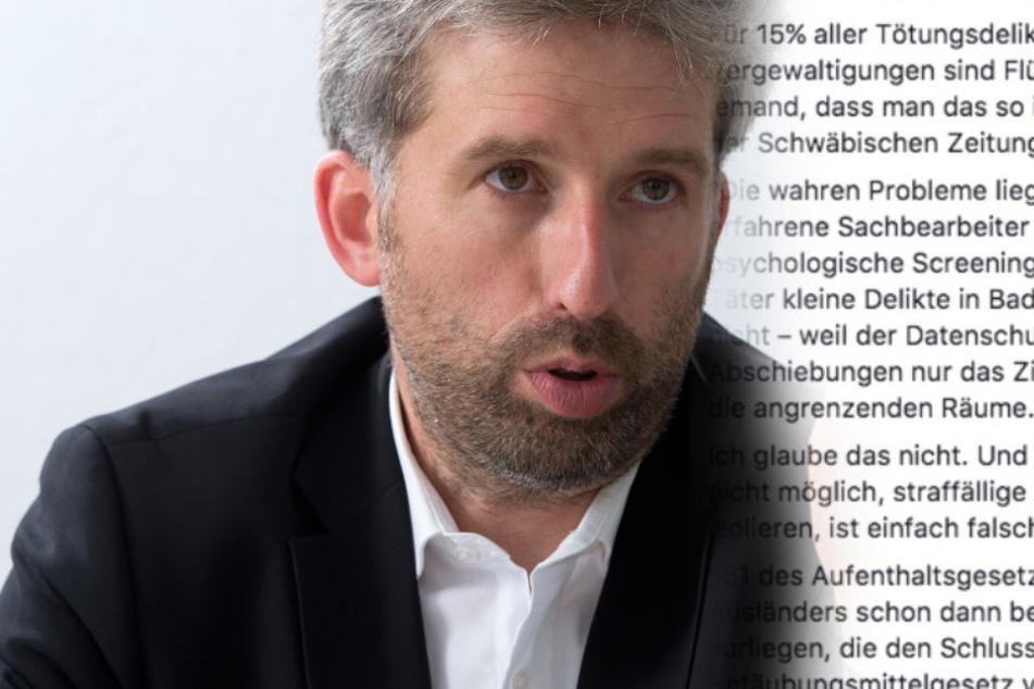 Palmer nach Horror-Vergewaltigung: Therapien für Flüchtlinge sind zu teuer