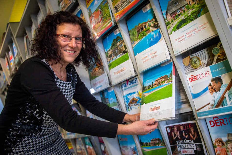 Bei Elke Dörn (55) von Kleins Reiseservice buchen die Chemnitzer nach wie vor viele Italien-Reisen.
