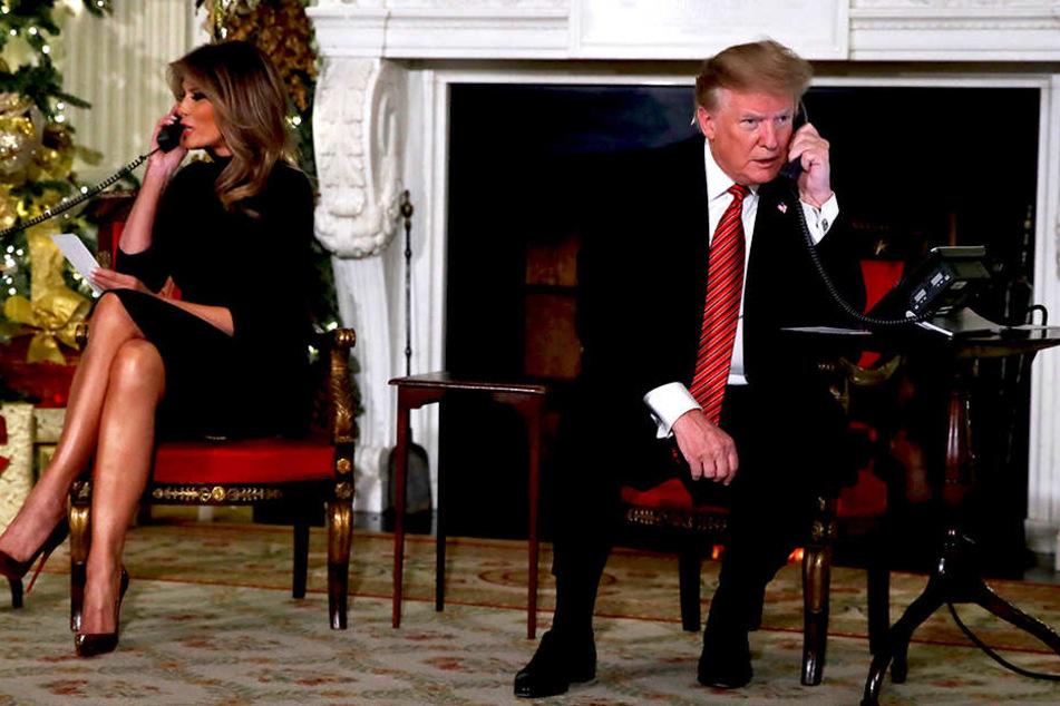 Donald (72) und Melania (48) Trump stellten sich den Fragen der jungen Anrufer.