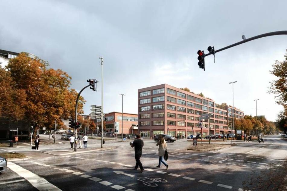 So schick soll das Backsteingebäude am Neuen Pferdemarkt später einmal aussehen.